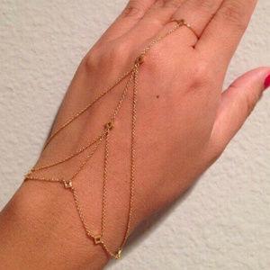 GORJANA Chain Gold  Bracelet Ring hand DEV NWT
